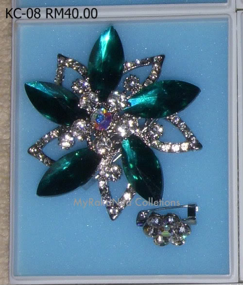 Swarovski Crystal & Pearl Brooches From Sabah KC-08-RM40-1