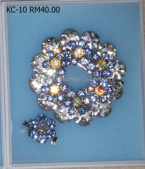 Swarovski Crystal & Pearl Brooches From Sabah KC-10-RM40-1