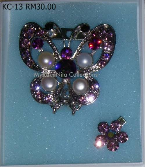 Swarovski Crystal & Pearl Brooches From Sabah KC-13-RM30-1