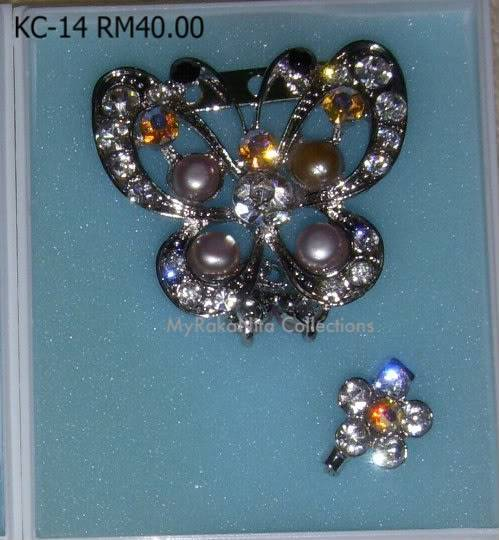 Swarovski Crystal & Pearl Brooches From Sabah KC-14-RM30-1