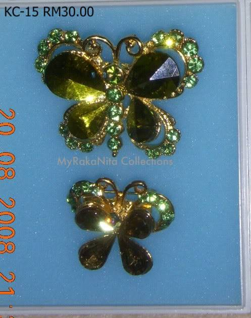 Swarovski Crystal & Pearl Brooches From Sabah KC-15-RM30-1