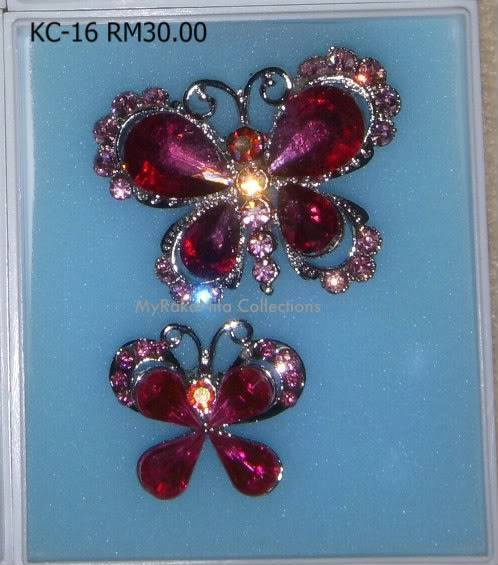 Swarovski Crystal & Pearl Brooches From Sabah KC-16-RM30-1