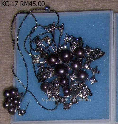 Swarovski Crystal & Pearl Brooches From Sabah KC-17-RM45-1