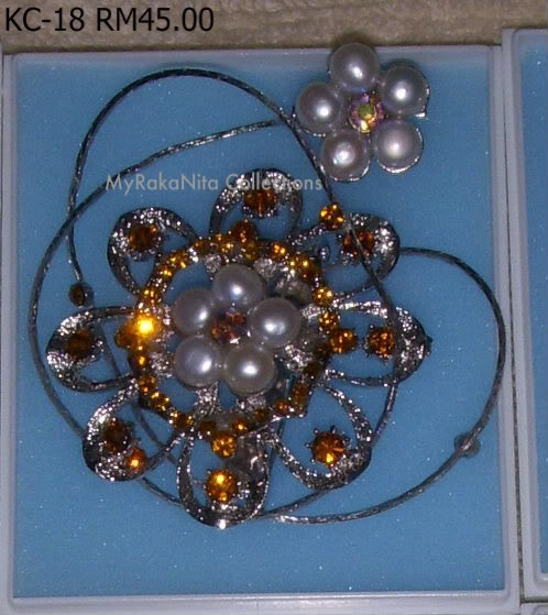 Swarovski Crystal & Pearl Brooches From Sabah KC-18-RM45-1