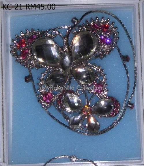 Swarovski Crystal & Pearl Brooches From Sabah KC-21-RM45-1