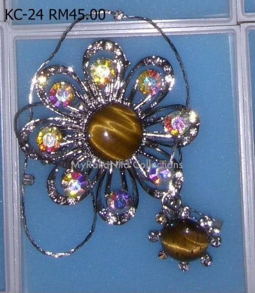 Swarovski Crystal & Pearl Brooches From Sabah KC-24-RM45-1