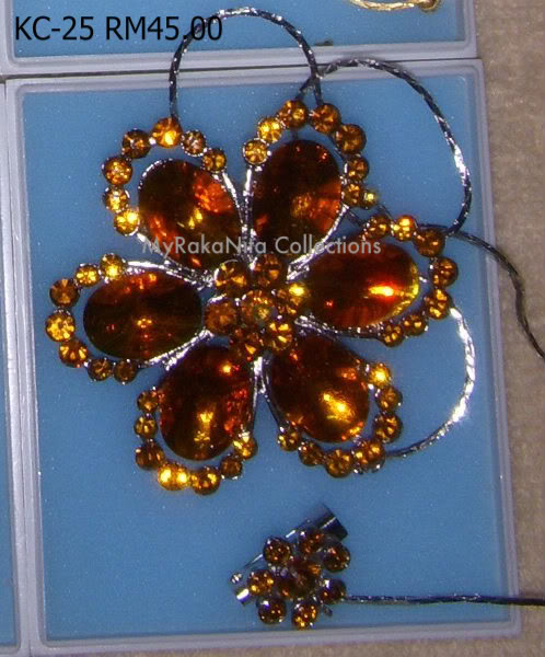 Swarovski Crystal & Pearl Brooches From Sabah KC-25-RM45-1