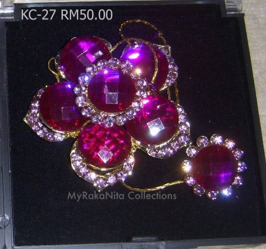 Swarovski Crystal & Pearl Brooches From Sabah KC-27-RM50-1