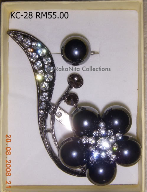 Swarovski Crystal & Pearl Brooches From Sabah KC-28-RM55-1