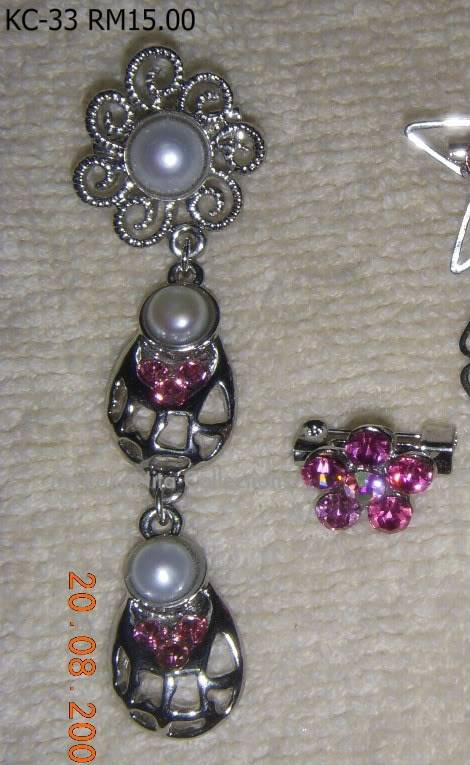 Swarovski Crystal & Pearl Brooches From Sabah KC-33-RM15-1