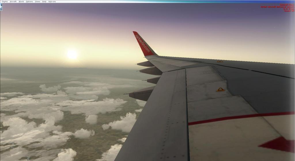 Air Berlin A320-214CFm Berli Tegel - - Palma de Mallorca Fsx2014-09-1409-12-35-68