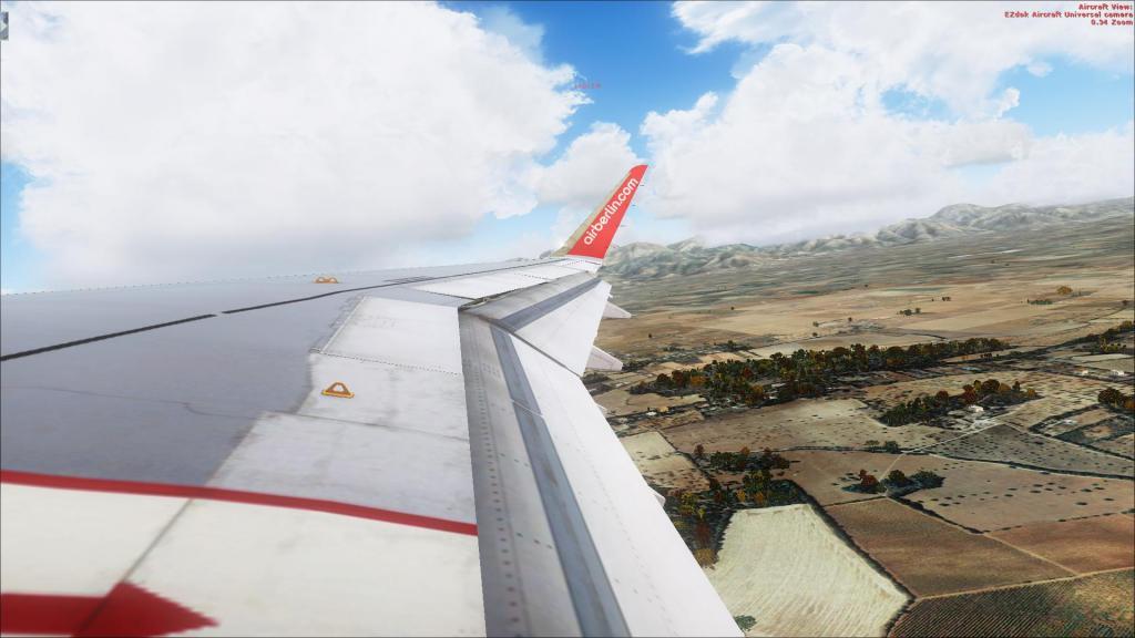 Air Berlin A320-214CFm Berli Tegel - - Palma de Mallorca Fsx2014-09-1410-32-16-64