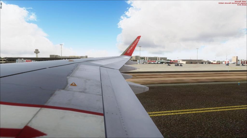 Air Berlin A320-214CFm Berli Tegel - - Palma de Mallorca Fsx2014-09-1410-38-14-24