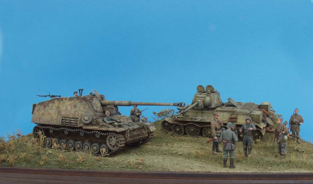 HUNTER AND VICTIM  KURSK 1943 1/35 DIORAMA 134