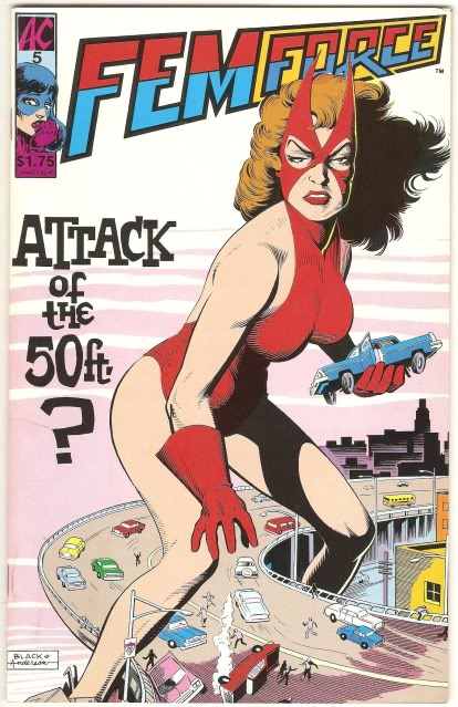 Attack of the 50-foot Woman Femforce5