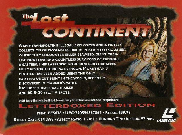 The Lost Continent (1968 UK) LostContinent