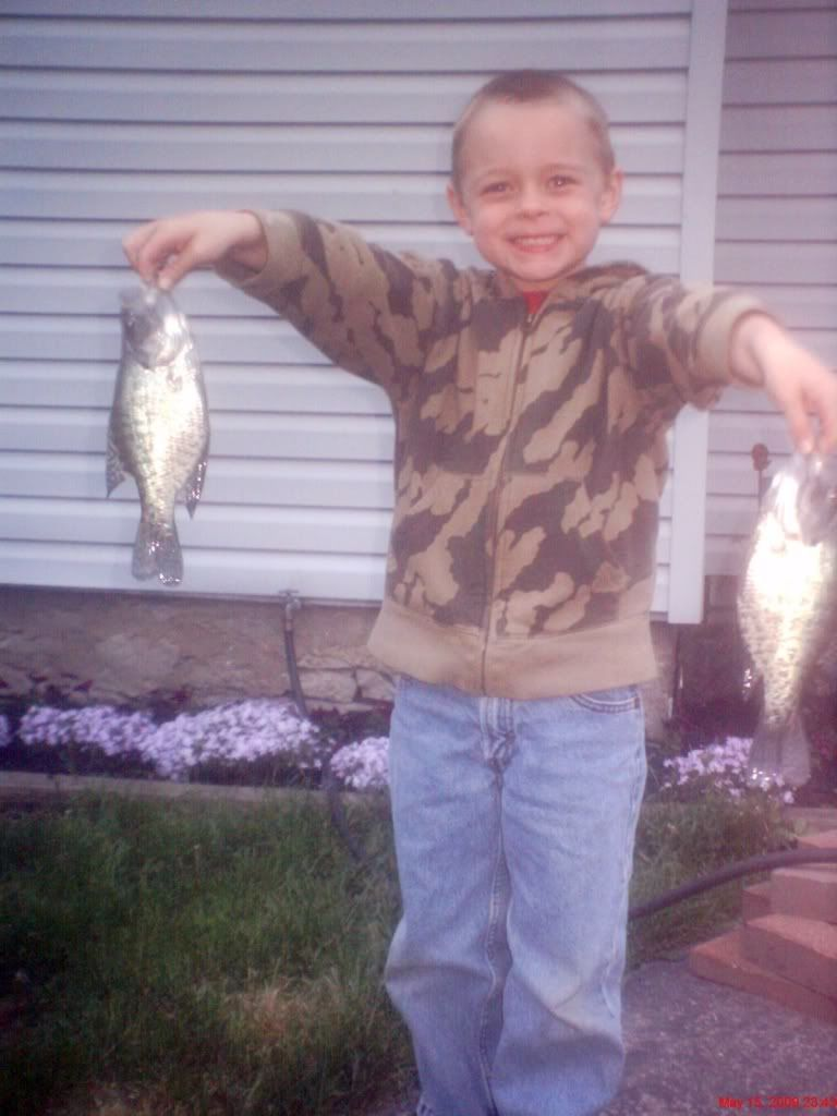 My sons first crappie Limit003