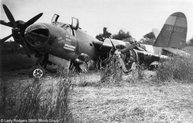 Actual WWII aircraft pictures - ALLIES AllthatremainsofTHEBADPENNYfollowin