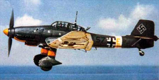 Actual WWII aircraft pictures - AXIS Ju87_infl_color_550