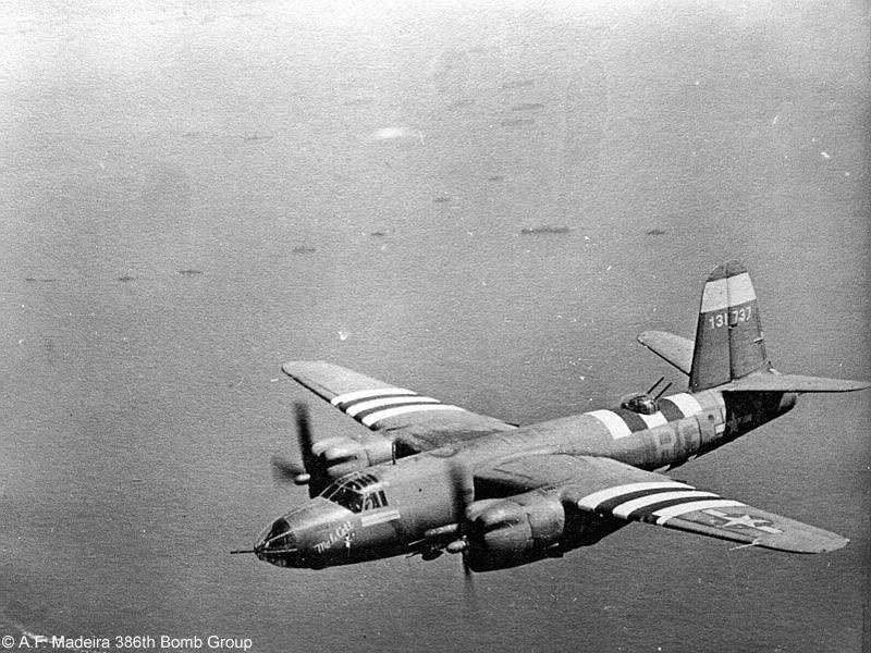 Actual WWII aircraft pictures - ALLIES MALECALLB-26Marauderofthe552ndBombS
