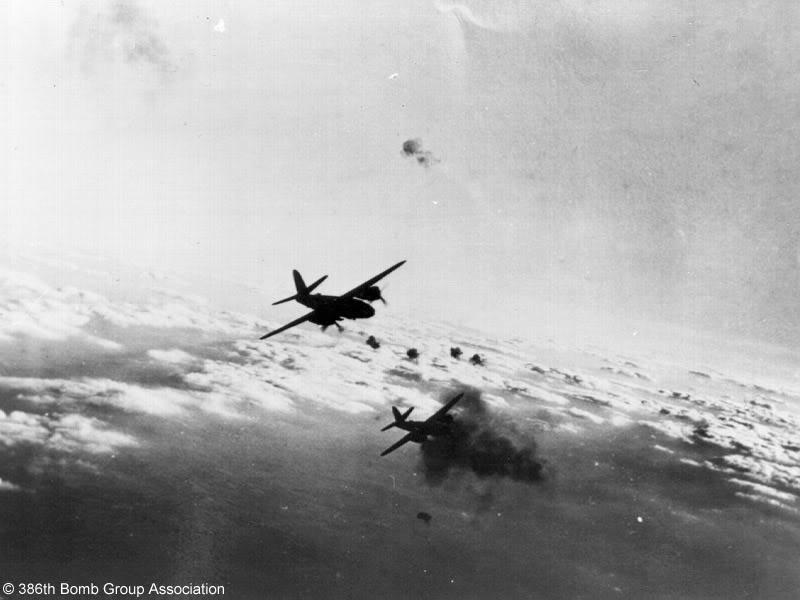 Actual WWII aircraft pictures - ALLIES Marauderstakeevasiveactionastheyenc
