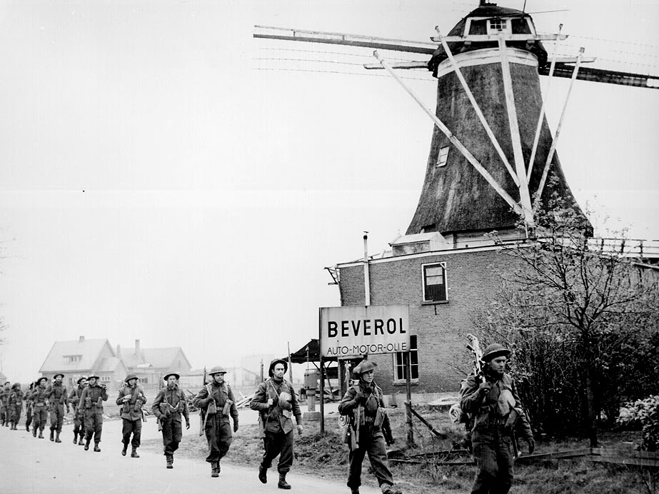 The liberation of The Netherlands Canadians