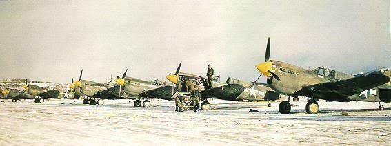 Actual WWII aircraft pictures - ALLIES P-40_warhawk_flight_line