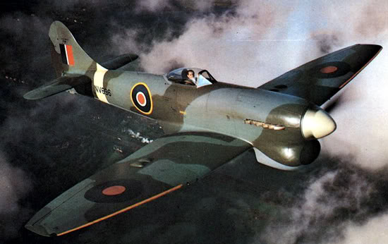 Actual WWII aircraft pictures - ALLIES Tempestflying_550