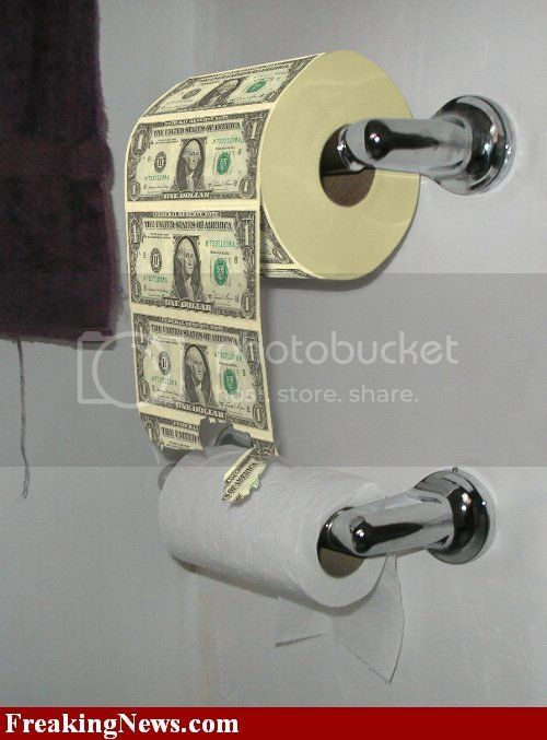 Toliet Paper Money Pictures, Images and Photos