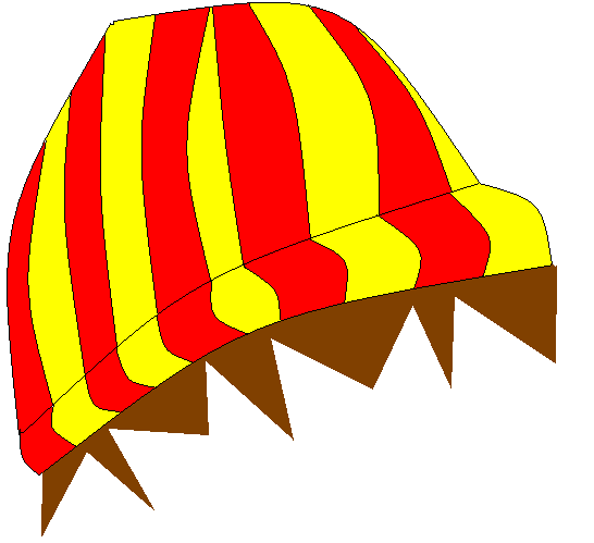 Red and yellow beanie made by Fever Redandyellowbeanie