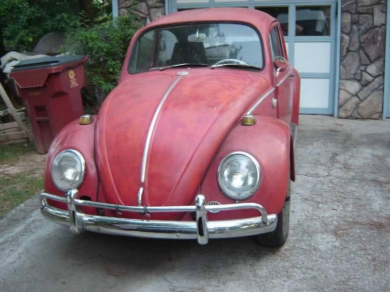 My '65 Beetle 1965RedVW07-19-0602