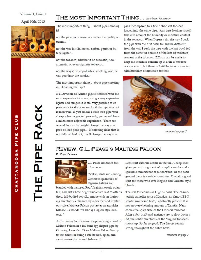 Our First Newsletter 130430Vol1Issue1Pg1_zps5417ae05