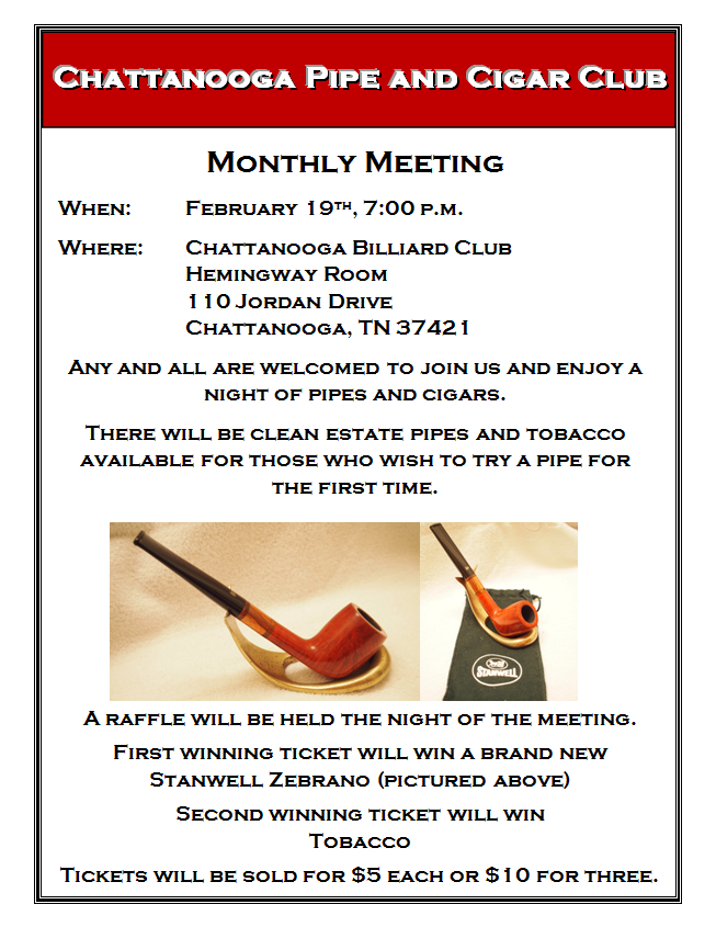 Chattanooga Pipe Club February Meeting  FebruaryFlyer_zpsf0037d1f
