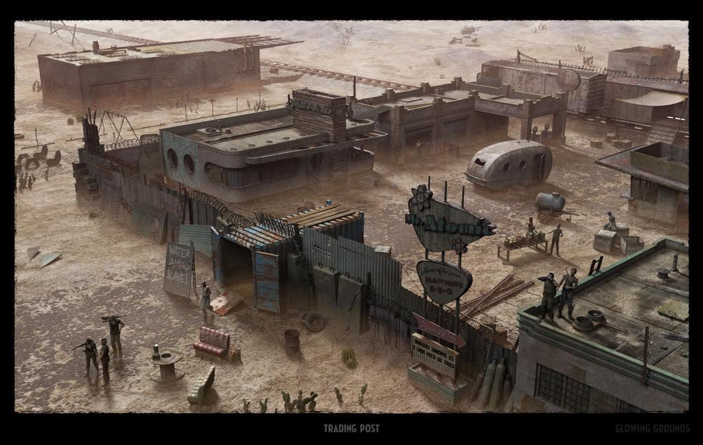 Les camps de survivant. Post_town