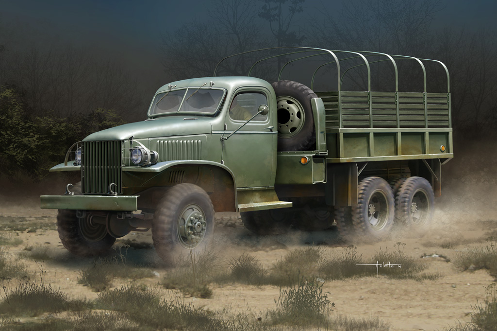 GMC 352 Hobby Boss et M1A1 105mm AFv Club 54af7f5716615