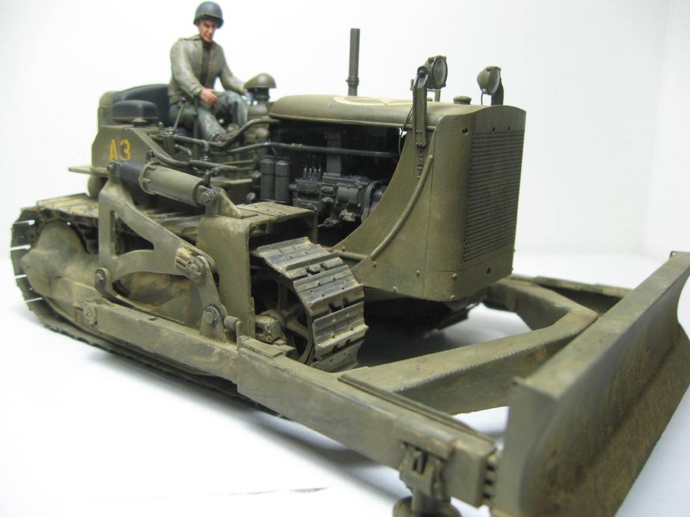 Bulldozer Caterpillar D7 avec lame hydraulique (terminé le 08/10/15) IMG_5421_9