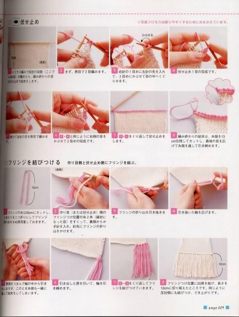 Phụ trợ trong đan móc (làm nút, khuy áo, rua cho khăn, quả bông, vv...) 1-2