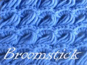 Đan khăn mẫu hoa cúc Broomstick-grund-01