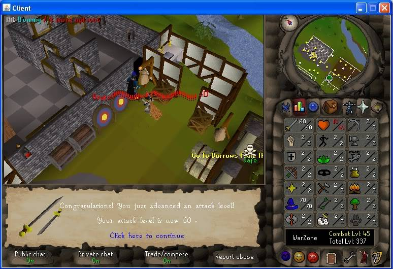 Senseless Taks = Completed at 65 Combat!!! New Record FTW? 60attack