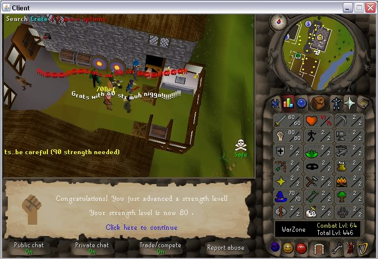 Senseless Taks = Completed at 65 Combat!!! New Record FTW? 80str