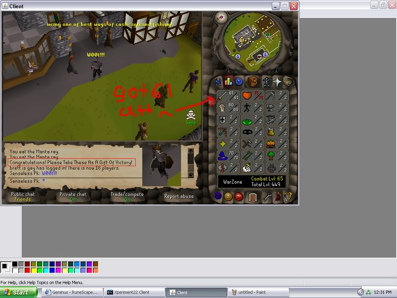 Senseless Taks = Completed at 65 Combat!!! New Record FTW? Done