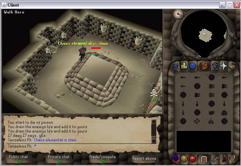 Senseless Taks = Completed at 65 Combat!!! New Record FTW? Step6