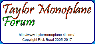 Taylor Monoplane Forum