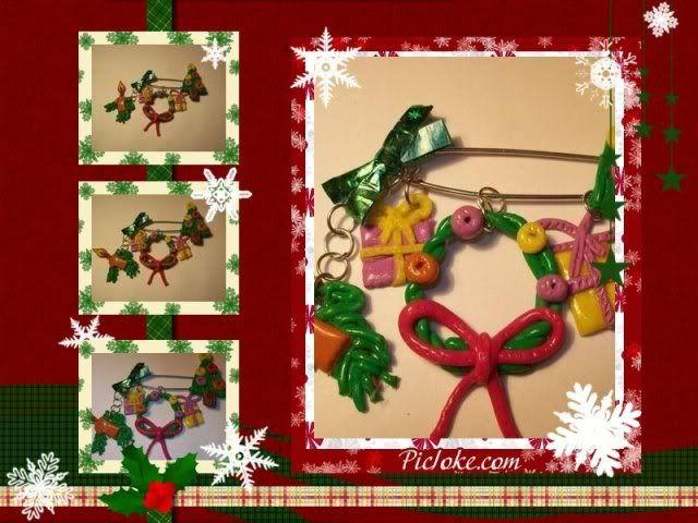 Provocare 6 polymer clay - Christmas Jewelry - Pagina 5 Brosacraciun