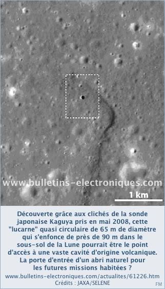 """Kaguya : découverte de la première """"caverne"""" lunaire 61226_01_01"""
