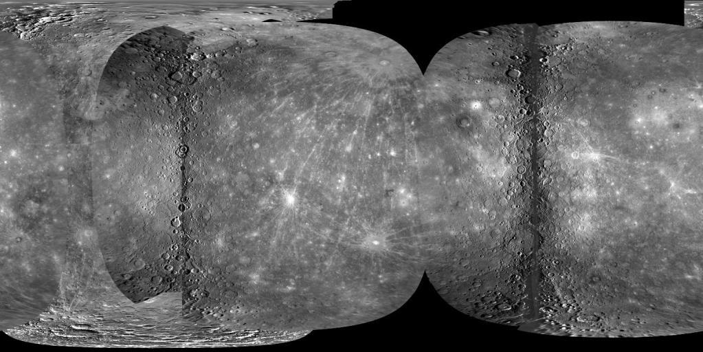 La première carte globale complète de Mercure PIA12397