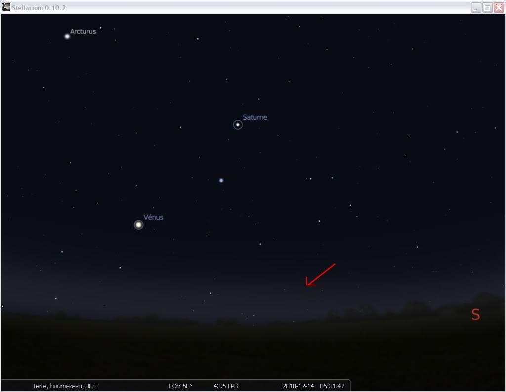 """2010: 14/12 à 6h25 - Observation d'une """"lumière rouge"""" (85) Stelarium2-1"""