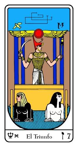 La obtención de sabiduría es por una vía de dos rieles Tarot-egipcio-07