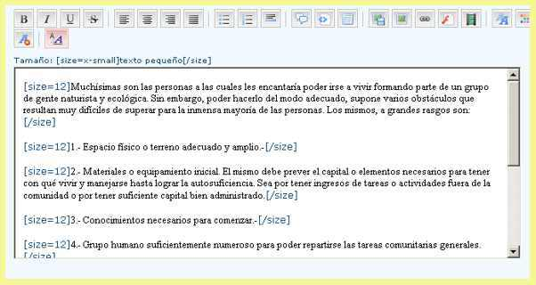 Cómo añadir mensajes o temas nuevos (uso del menú) Ediciontexto01