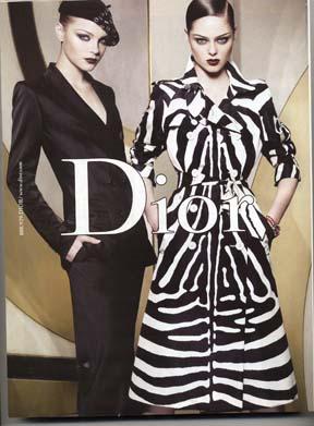 فساتين Zebra Fashion-zebra-dior